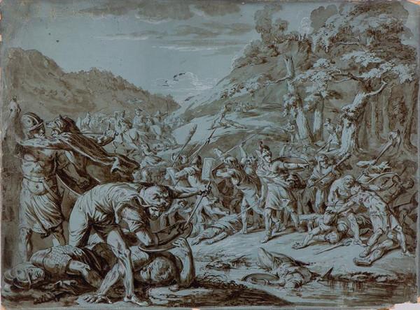 neznámý malíř italský - Bitva