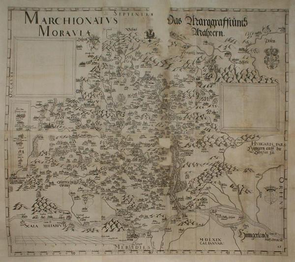 Paulus (Paul) Fabritius – Mapa  Moravy  z  1569