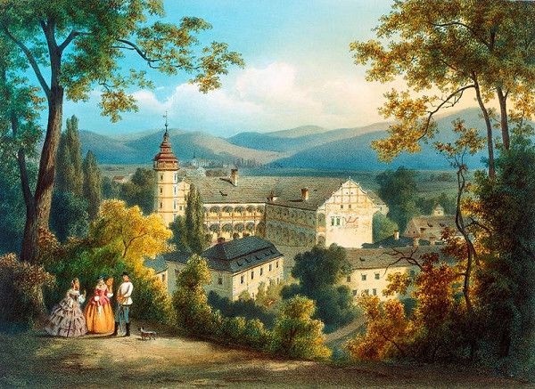 August Haun – Velké  Losiny  -  zámek
