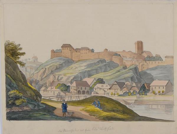 František (Franz) Richter – Znojmo-pohled na hrad a podhradí