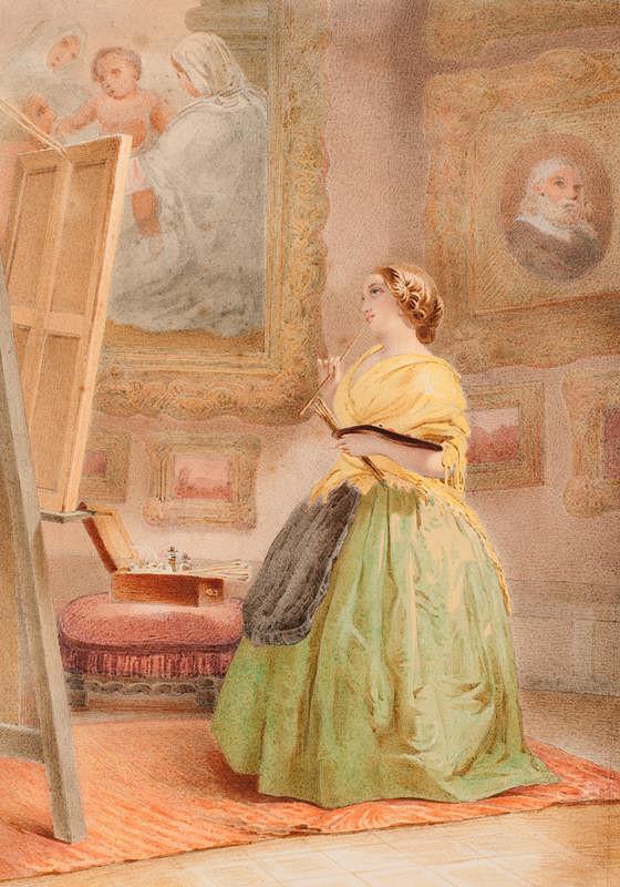 Jan Ondřej Gebhardt – Dívka s paletou před štaflí