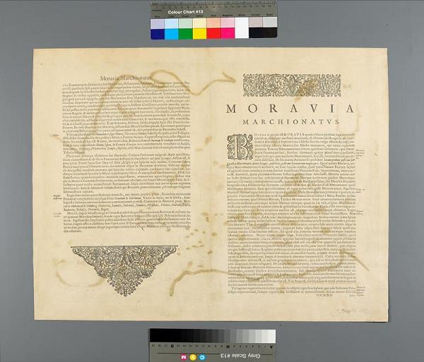 Jan Amos Komenský, Henricus Hondius – Komenského mapa Moravy