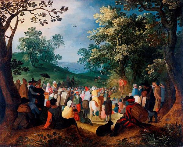 Nicolaes de Bruyn – Kázání sv. Jana Křtitele