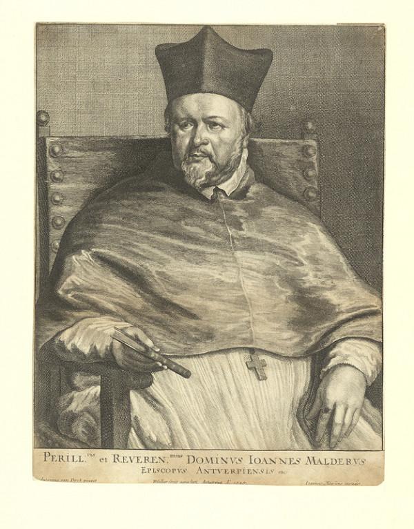 Václav Hollar – Joannes Malderus, podle Anthonise van Dycka