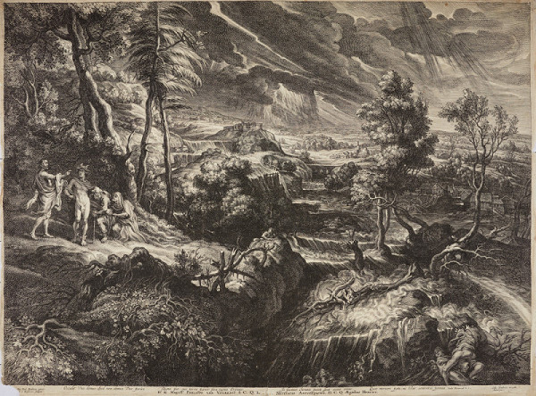 Schelte Adamszoon Bolswert – Potopa (podle P. P. Rubense)