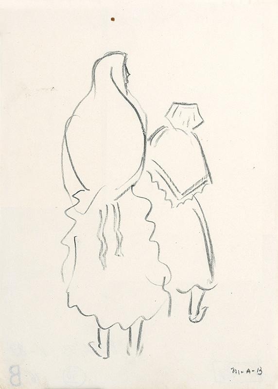 Miloš Alexander Bazovský – Dve ženy v šatke