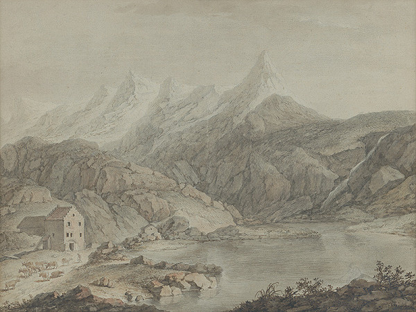 Adam Friedrich Oeser, Johann Friedrich Ludwig Oeser, Franz Schüz – Alpská krajina - Hospic v Svätobernardskom priesmyku
