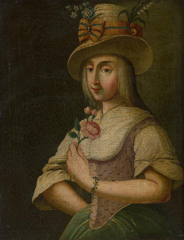 Stredoeurópsky maliar z konca 18. storočia – Dáma s ružou