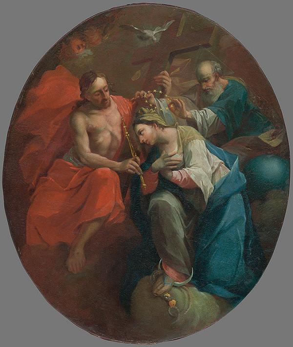 Stredoeurópsky maliar z 1. polovice 18. storočia - Korunovanie Panny Márie