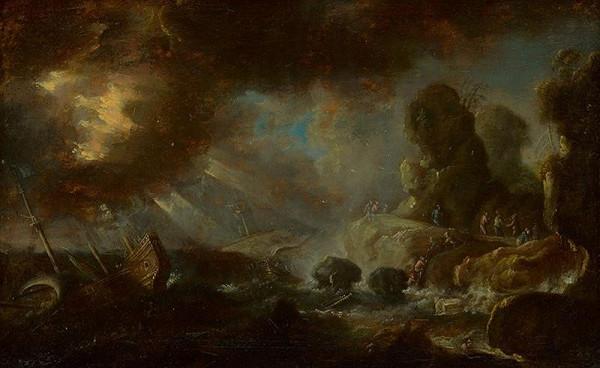 Nemecký maliar z 3. štvrtiny 18. storočia, Holandský maliar - Stroskotanie lode