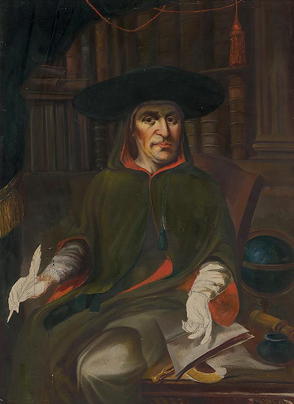Slovenský maliar zo začiatku 20. storočia - Portrét prepošta Juraja Schönberga