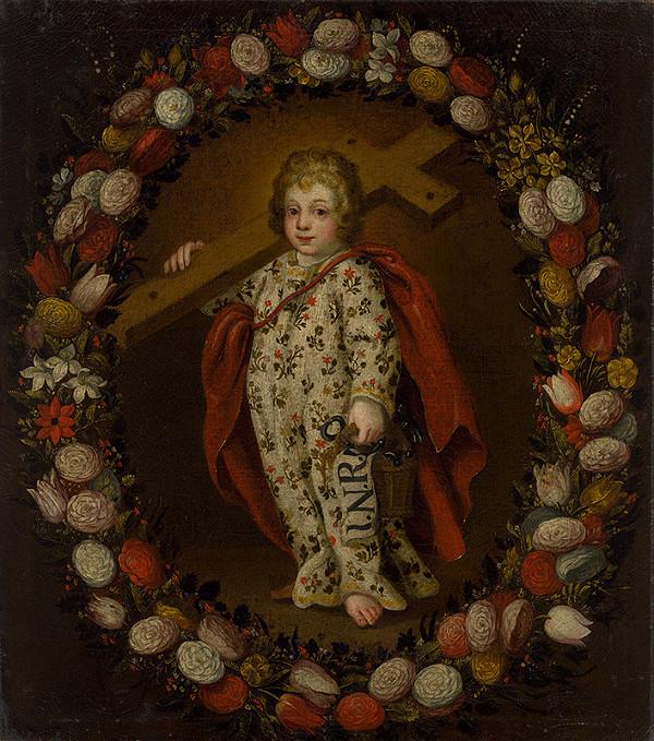 Stredoeurópsky maliar zo začiatku 18. storočia – Dieťa Ježiš s atribútmi umučenia