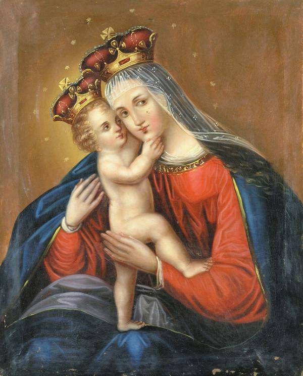Stredoeurópsky autor z 19. storočia - Mária s dieťaťom