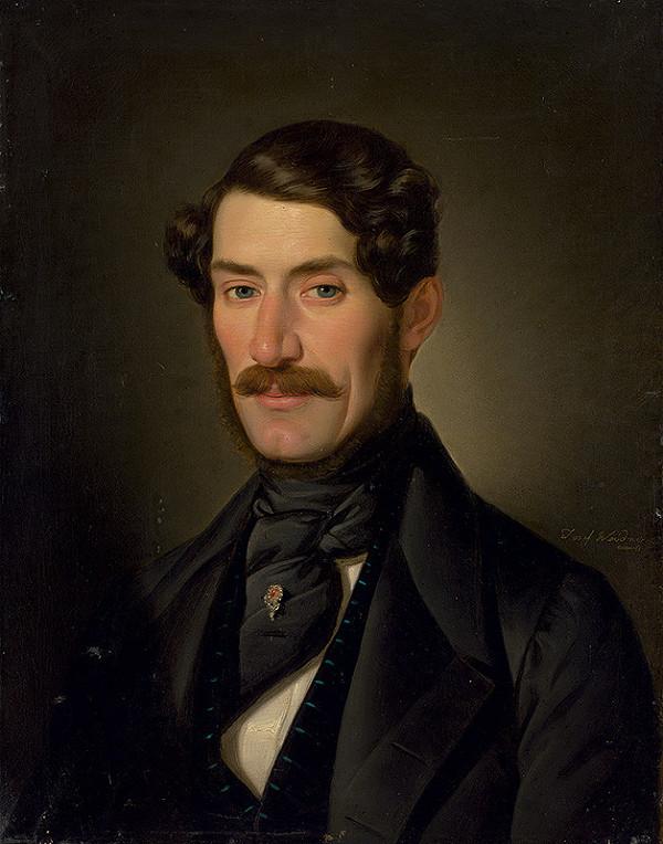 Joseph Weidner – Portrét muža s fúzami