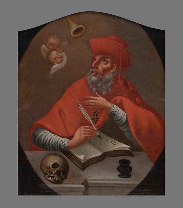 Slovenský maliar z prelomu 18. - 19. storočia - Svätý Hieronym
