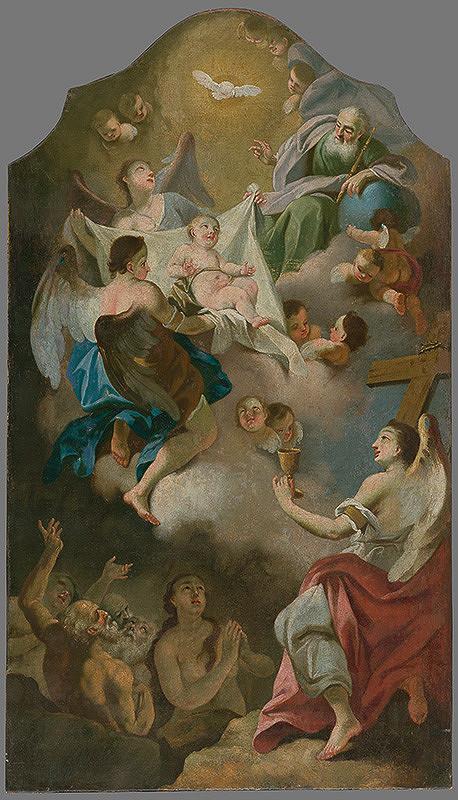 Stredoeurópsky maliar z 1. polovice 18. storočia – Alegória Ježiša - dieťaťa - ako budúceho Vykupiteľa