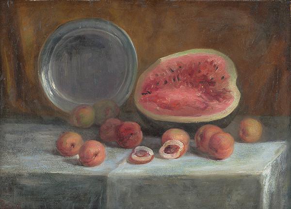 Ľudovít Pitthordt – Zátišie s melónom