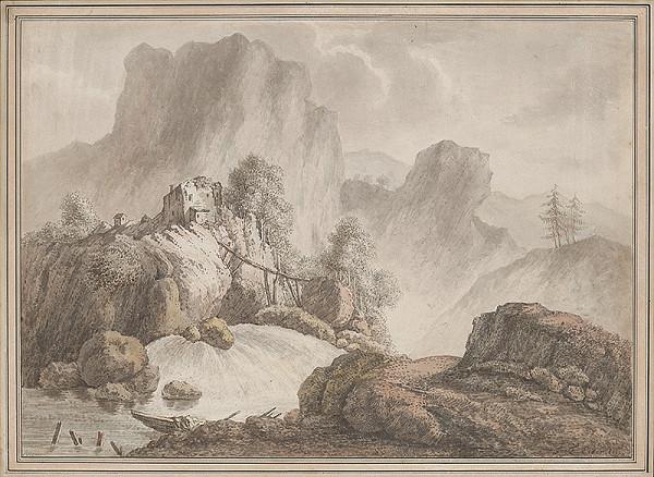 Adam Friedrich Oeser, Jean Baptiste Pillement – Krajina so skalami a vodopádom