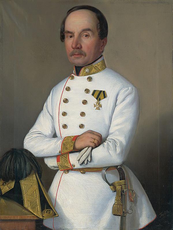 Carl Teibler - Portrét neznámeho dôstojníka