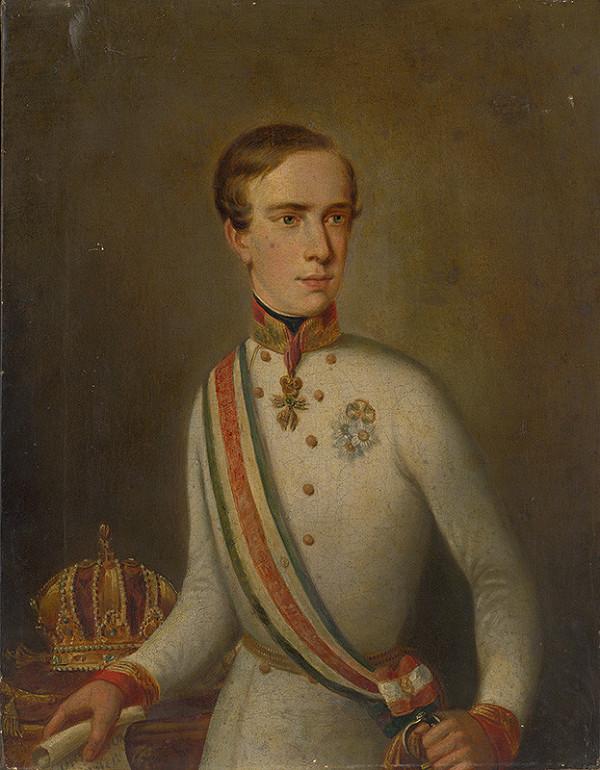 Stredoeurópsky maliar z 1. polovice 19. storočia, Anton Einsle - Portrét cisára  Františka Jozefa I.