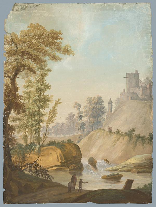 Stredoeurópsky maliar z 1. štvrtiny 19. storočia – Krajina s hradom