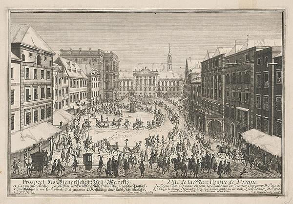 Johann Adam Delsenbach, Joseph Emanuel Fischer von Erlach – Plán viedenského Neumarktu