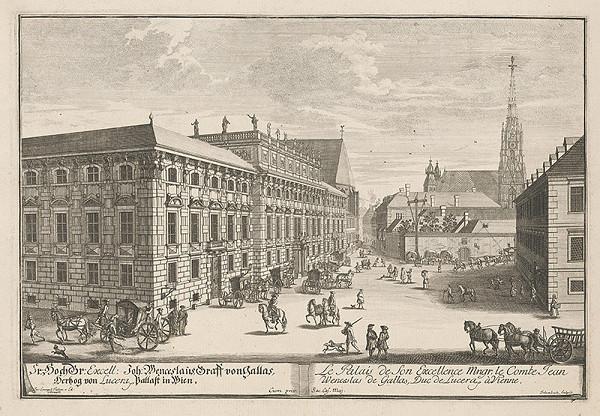 Johann Adam Delsenbach, Joseph Emanuel Fischer von Erlach - Palác grófa Gallasa vo Viedni