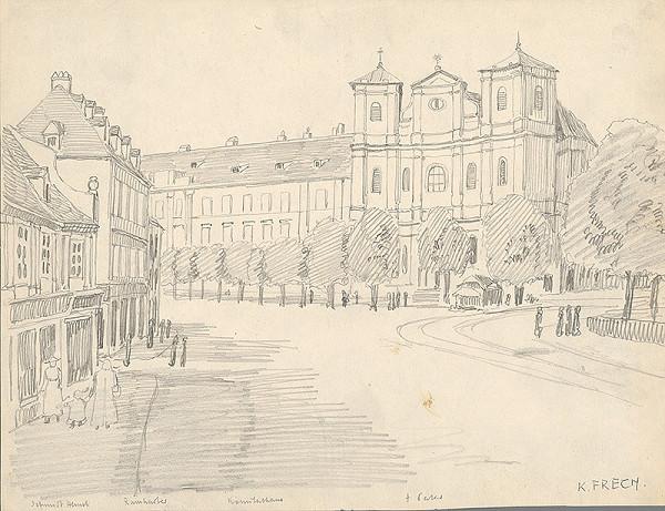 Karol Frech - Námestie s kostolom sv.Trojice v Bratislave
