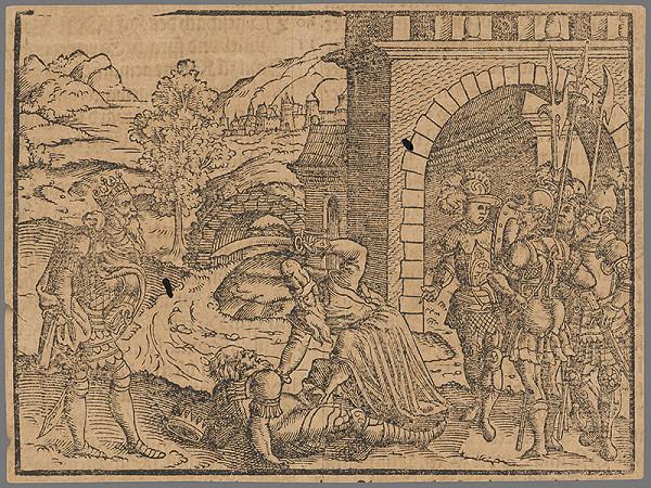 Stredoeurópsky grafik zo 16. storočia - Výjav zo Starého zákona 19.