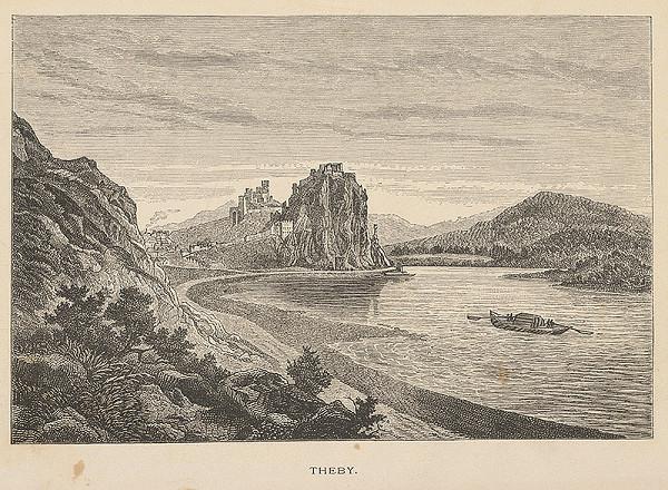 Stredoeurópsky grafik z 19. storočia - Pohľad na hrad Devín