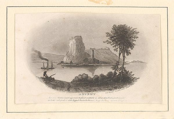 Domokos Perlaszka - Pohľad na hrad Devín