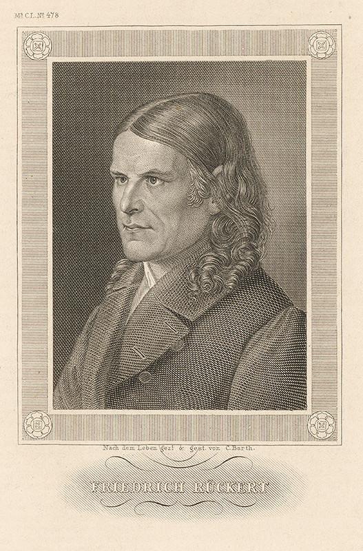 Carl Barth – Portrét Friedricha Rückerta