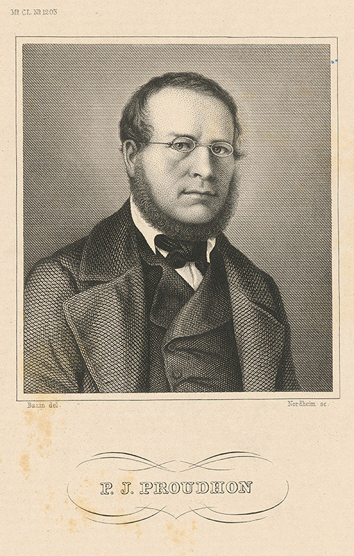 Johann Georg Nordheim, Johann Bazin – Portrét P.J.Proudhona