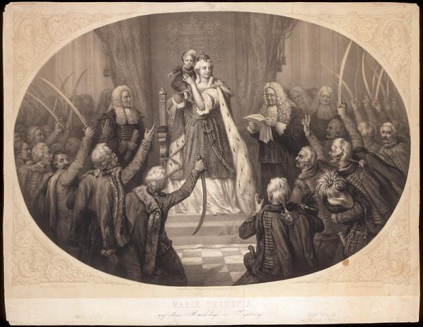 Bülow, Carl Johann Arnold – Mária Terézia na uhorskom sneme 1741