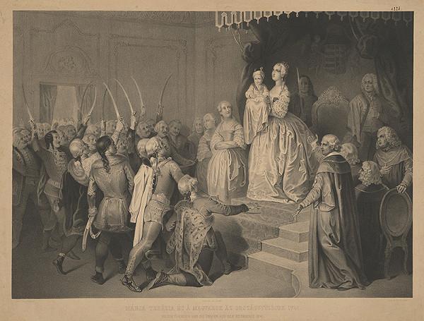 Josef Hasslwander – Mária Terézia na uhorskom sneme 1741