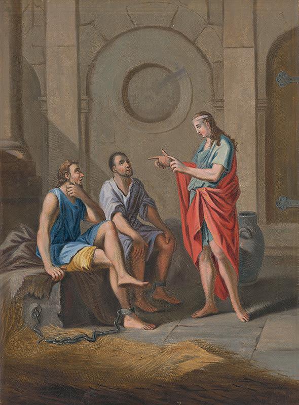 Stredoeurópsky maliar zo 17. storočia – Jozef vykladá sny vo väzení