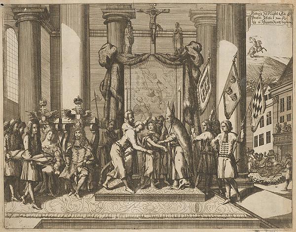 Stredoeurópsky grafik zo 17. storočia – Korunovácia Jozefa I.