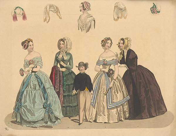 Neznámy autor - Módny list z roku 1845