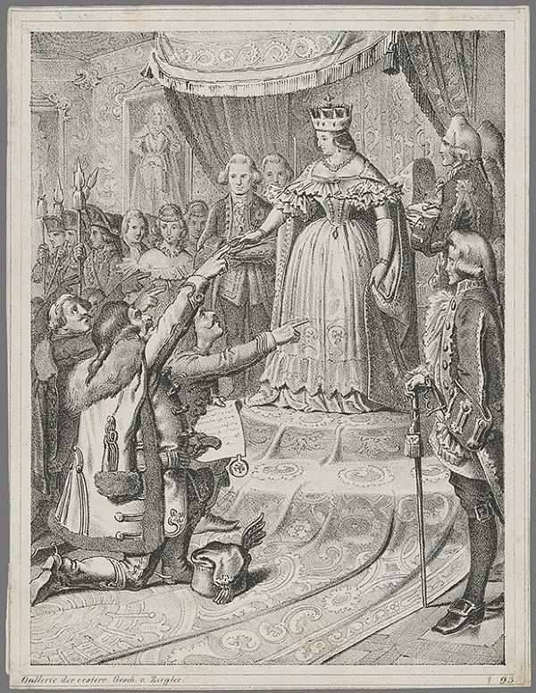 Peter Johann Nepomuk Geiger – Mária Terézia na uhorskom sneme 1741