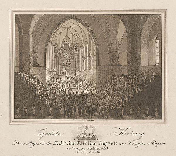 Eduard Gurk – Korunovácia Karolíny Augusty v dóme sv. Martina v Bratislave