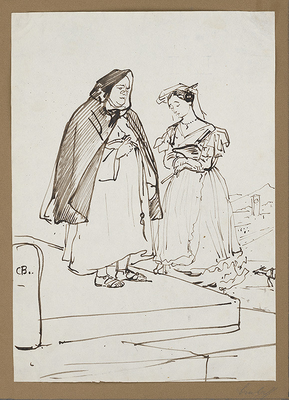 Carl Bruloff - Dve ženy