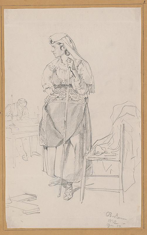 Carl Bruloff - Žena v kroji