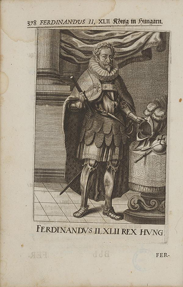 Stredoeurópsky grafik zo 17. storočia – Portrét Ferdinanda II. Habsburského