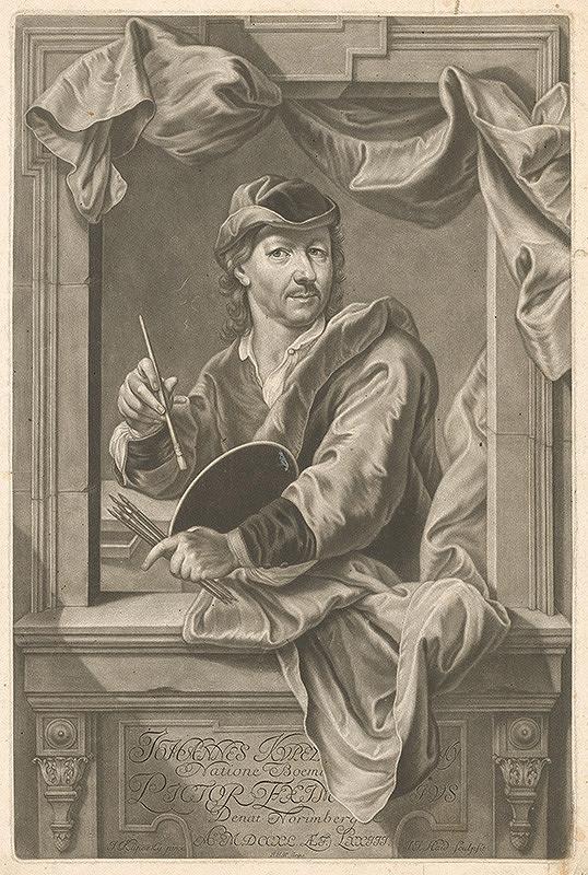 Johann Jacob Haid, Ján Kupecký – Autoportrét