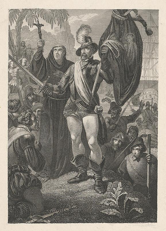Stredoeurópsky grafik z 19. storočia - Žehnanie vojska