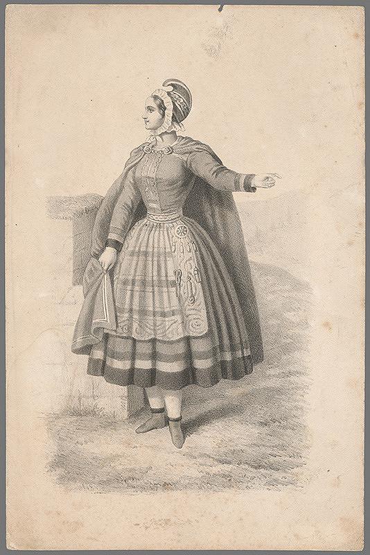 Stredoeurópsky grafik z 19. storočia – Portrét ženy