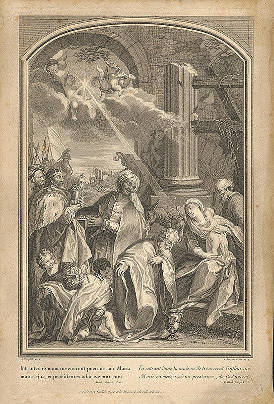 Nicolas Vleughels, Edme Jeaurat, Jean-François Joullain – Klaňanie troch kráľov