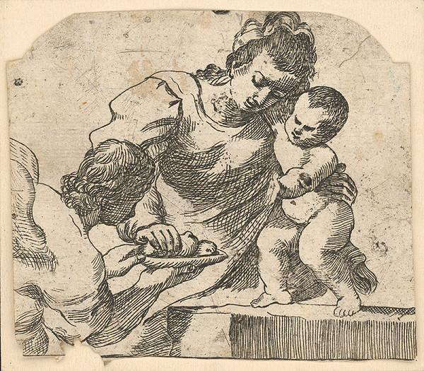 Stredoeurópsky grafik zo 17. storočia – Madona s dieťaťom