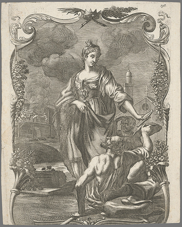 Stredoeurópsky grafik z prelomu 17. a začiatku 18. storočia - Svätá Alžbeta