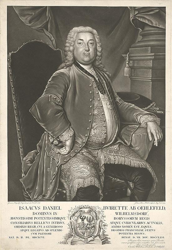 Johann Elias Haid, Ján Kupecký – Isac Daniel Buirette z Oehlefeldu